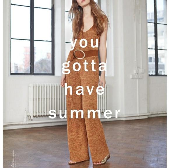 8f8a229923f9 Zara knit Jumpsuit Mustard color. M 5a38695a45b30c9cc40050f5